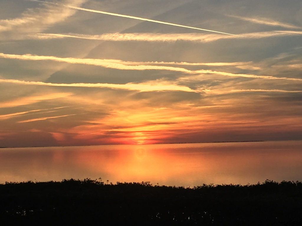 sunset over Gulf of Mexico